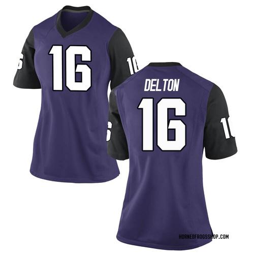 Women's Nike Alex Delton TCU Horned Frogs Game Purple Football College Jersey