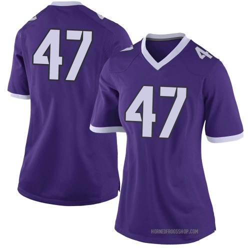 Women's Nike Alex Hilty TCU Horned Frogs Limited Purple Football College Jersey