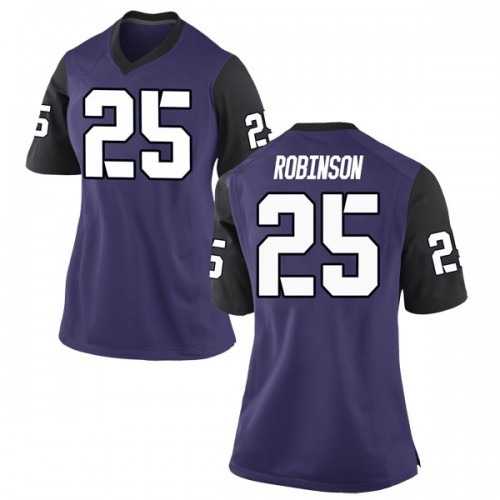 Women's Nike Alex Robinson TCU Horned Frogs Game Purple Football College Jersey