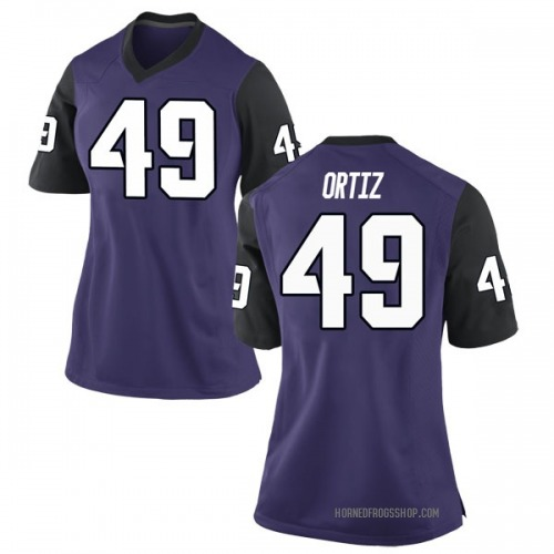 Women's Nike Antonio Ortiz TCU Horned Frogs Game Purple Football College Jersey