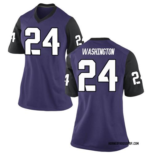 Women's Nike Ar'Darius Washington TCU Horned Frogs Game Purple Football College Jersey