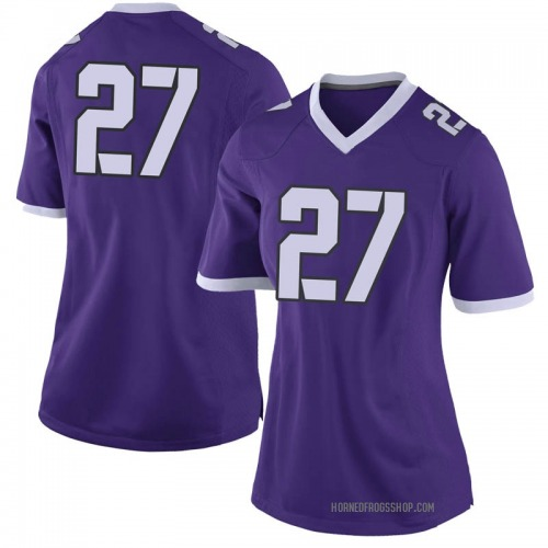 Women's Nike Ardarius Washington TCU Horned Frogs Limited Purple Football College Jersey