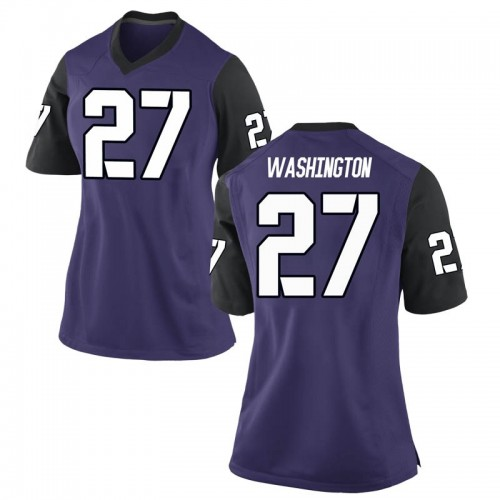 Women's Nike Ardarius Washington TCU Horned Frogs Replica Purple Football College Jersey