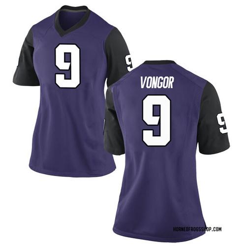 Women's Nike Atanza Vongor TCU Horned Frogs Replica Purple Football College Jersey