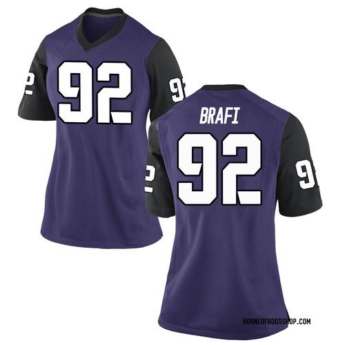 Women's Nike Benedict Brafi TCU Horned Frogs Game Purple Football College Jersey