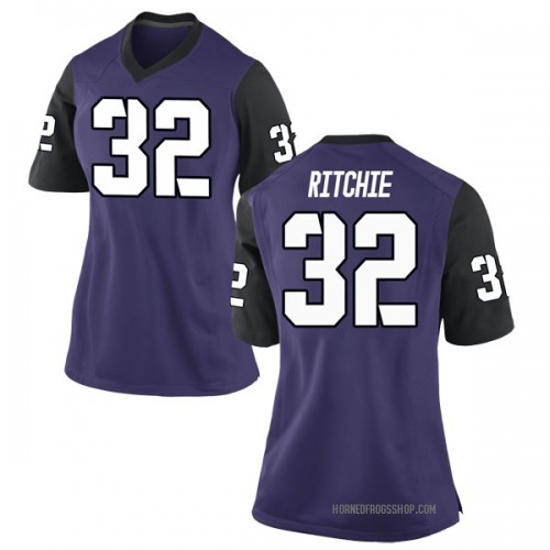 Women's Nike Brandon Ritchie TCU Horned Frogs Game Purple Football College Jersey