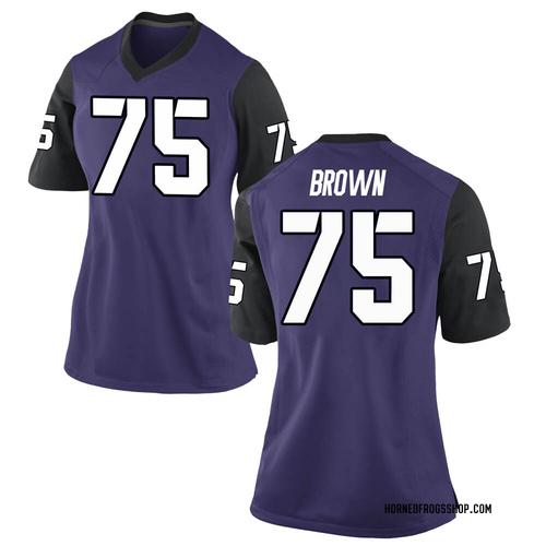 Women's Nike Brannon Brown TCU Horned Frogs Replica Purple Football College Jersey