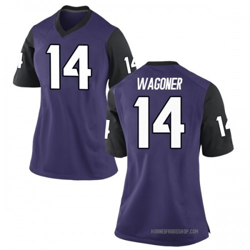 Women's Nike Chase Van Wagoner TCU Horned Frogs Replica Purple Football College Jersey