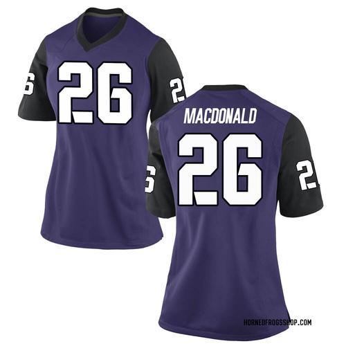 Women's Nike Christian MacDonald TCU Horned Frogs Game Purple Football College Jersey