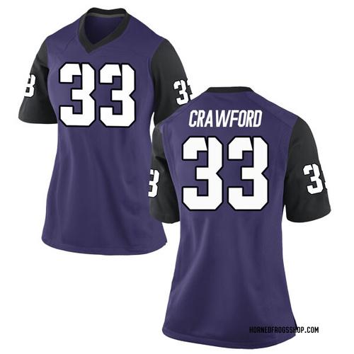 Women's Nike Clayton Crawford TCU Horned Frogs Replica Purple Football College Jersey