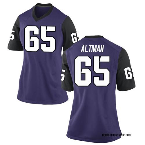 Women's Nike Colson Altman TCU Horned Frogs Replica Purple Football College Jersey