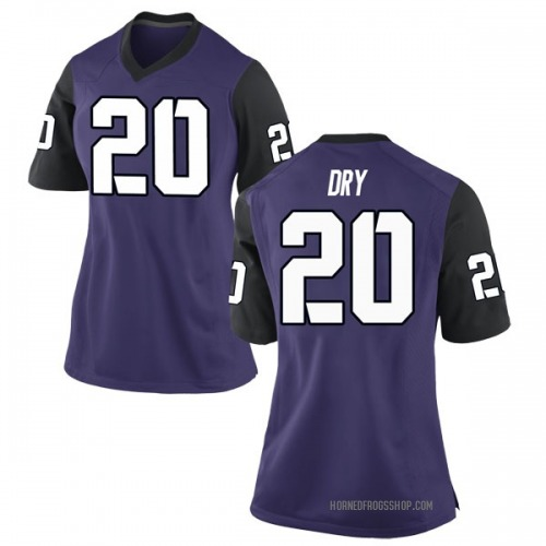 Women's Nike Dalton Dry TCU Horned Frogs Game Purple Football College Jersey