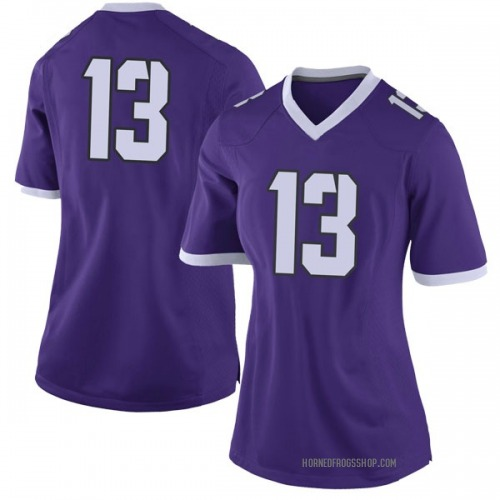 Women's Nike Darrion Flowers TCU Horned Frogs Limited Purple Football College Jersey