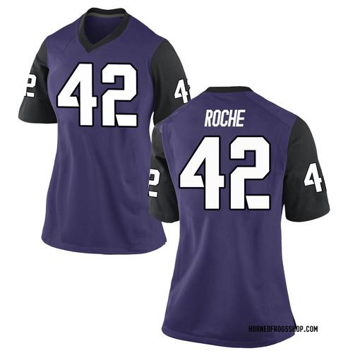 Women's Nike Dearan Roche TCU Horned Frogs Game Purple Football College Jersey
