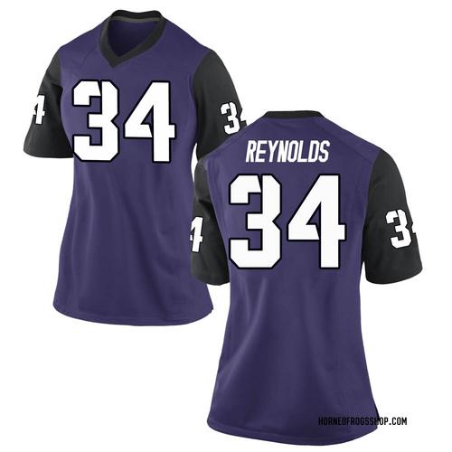 Women's Nike Deryl Reynolds TCU Horned Frogs Game Purple Football College Jersey