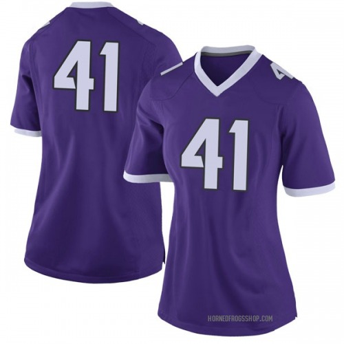 Women's Nike Dillon Jones TCU Horned Frogs Limited Purple Football College Jersey