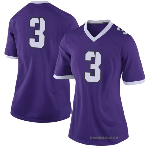 Women's Nike Donavann Collins TCU Horned Frogs Limited Purple Football College Jersey
