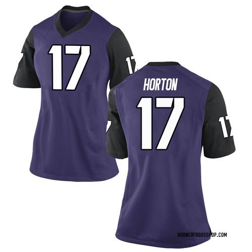 Women's Nike Dylan Horton TCU Horned Frogs Game Purple Football College Jersey