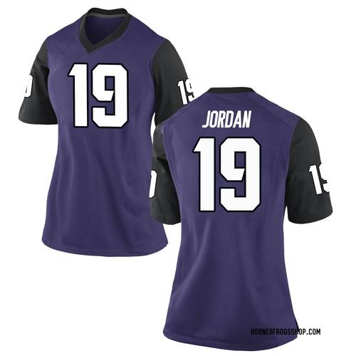Women's Nike Dylan Jordan TCU Horned Frogs Game Purple Football College Jersey