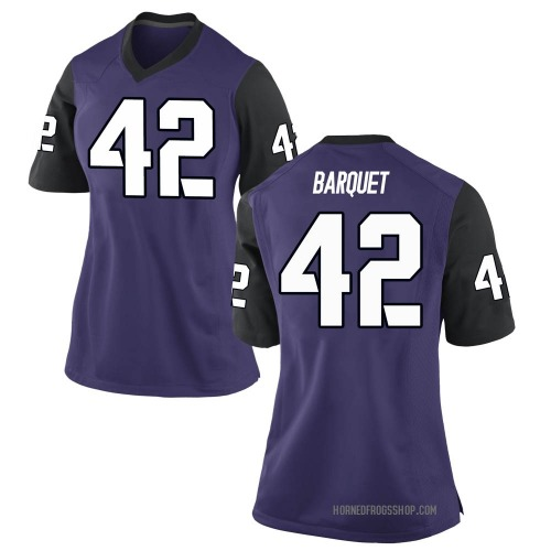 Women's Nike Earl Barquet TCU Horned Frogs Game Purple Football College Jersey