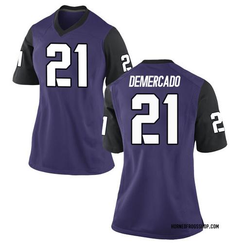 Women's Nike Emari Demercado TCU Horned Frogs Game Purple Football College Jersey
