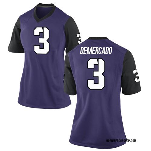 Women's Nike Emari Demercado TCU Horned Frogs Replica Purple Football College Jersey