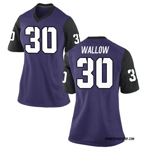Women's Nike Garret Wallow TCU Horned Frogs Replica Purple Football College Jersey
