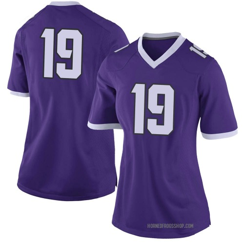 Women's Nike Grant Beucler TCU Horned Frogs Limited Purple Football College Jersey