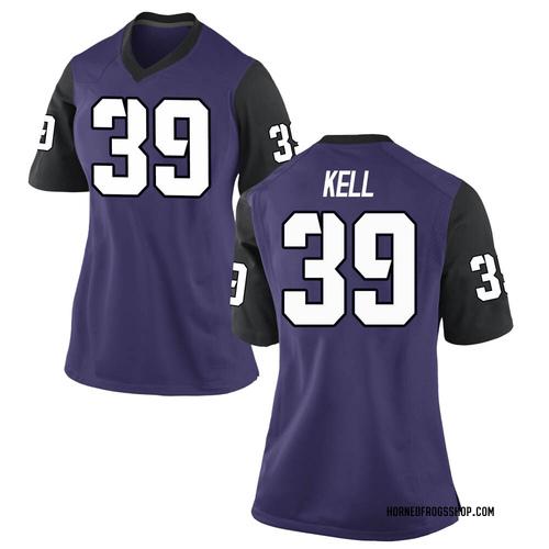 Women's Nike Griffin Kell TCU Horned Frogs Game Purple Football College Jersey