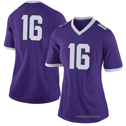 Women's Nike Hidari Ceasar TCU Horned Frogs Limited Purple Football College Jersey