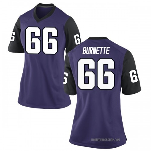 Women's Nike Ian Burnette TCU Horned Frogs Game Purple Football College Jersey
