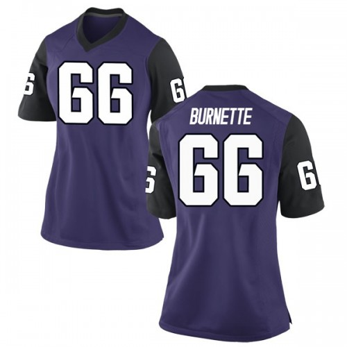 Women's Nike Ian Burnette TCU Horned Frogs Replica Purple Football College Jersey