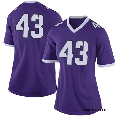 Women's Nike Izaih Filikitonga TCU Horned Frogs Limited Purple Football College Jersey