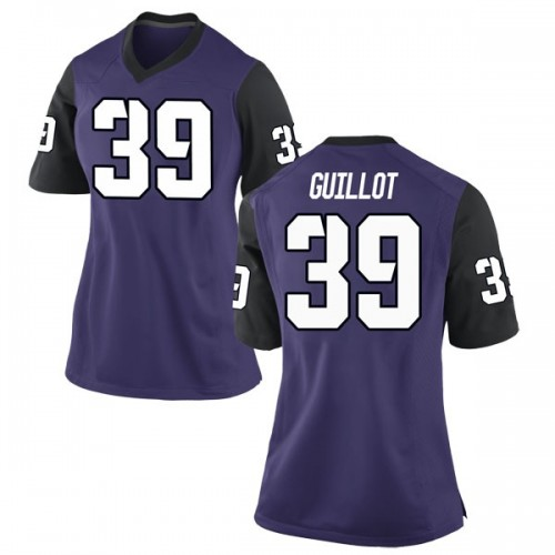Women's Nike Jacques Guillot TCU Horned Frogs Game Purple Football College Jersey
