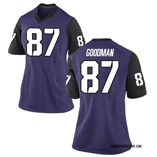 Women's Nike Jake Goodman TCU Horned Frogs Game Purple Football College Jersey