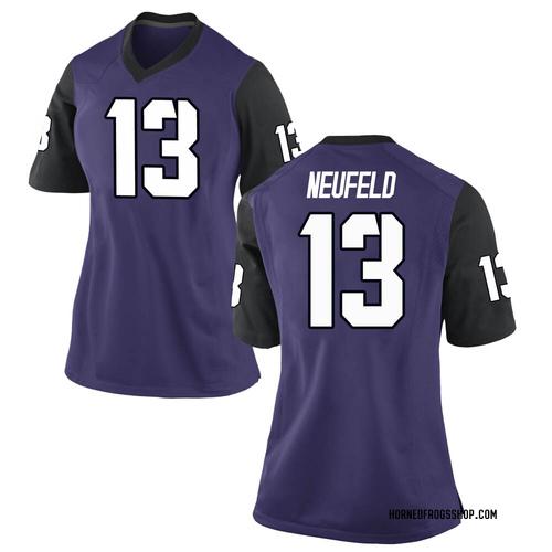 Women's Nike Jake Neufeld TCU Horned Frogs Replica Purple Football College Jersey