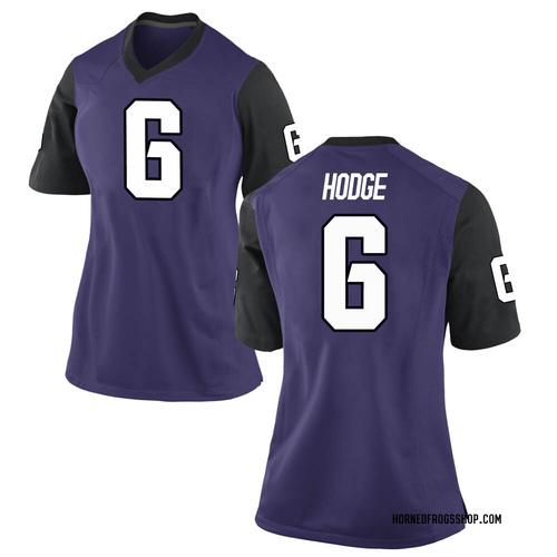Women's Nike Jamoi Hodge TCU Horned Frogs Replica Purple Football College Jersey