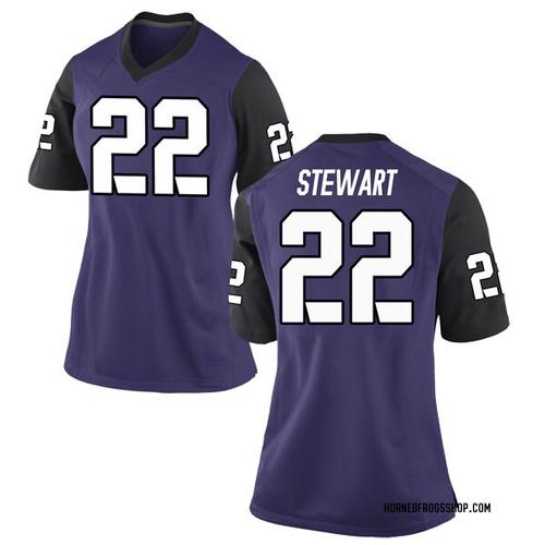 Women's Nike Jarrison Stewart TCU Horned Frogs Replica Purple Football College Jersey