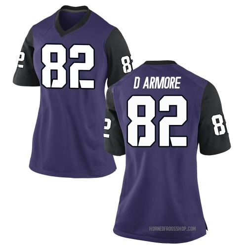 Women's Nike Jason D'Armore TCU Horned Frogs Game Purple Football College Jersey