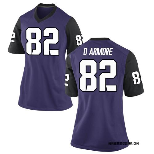 Women's Nike Jason Darmore TCU Horned Frogs Replica Purple Football College Jersey