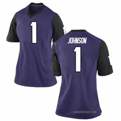 Women's Nike Jawuan Johnson TCU Horned Frogs Game Purple Football College Jersey