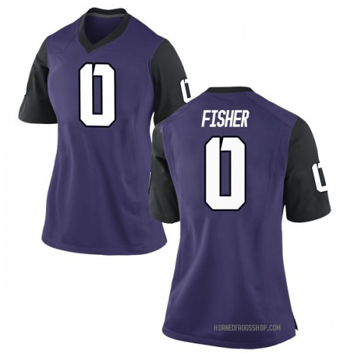 Women's Nike Jaylen Fisher TCU Horned Frogs Game Purple Football College Jersey