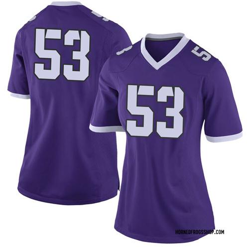 Women's Nike John Lanz TCU Horned Frogs Limited Purple Football College Jersey