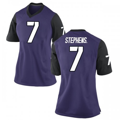Women's Nike John Stephens Jr. TCU Horned Frogs Game Purple Football College Jersey