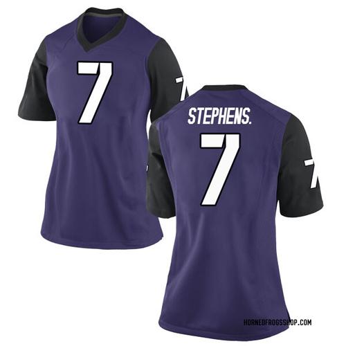 Women's Nike John Stephens Jr. TCU Horned Frogs Replica Purple Football College Jersey