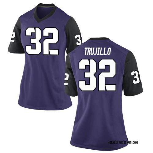 Women's Nike Jonathan Trujillo TCU Horned Frogs Replica Purple Football College Jersey
