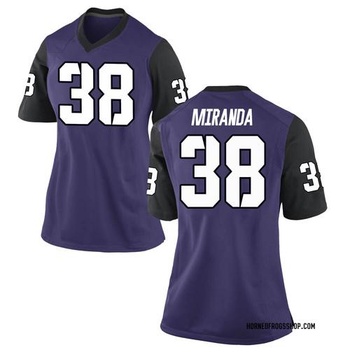 Women's Nike Jose Miranda TCU Horned Frogs Replica Purple Football College Jersey
