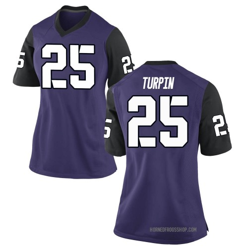 Women's Nike KaVontae Turpin TCU Horned Frogs Game Purple Football College Jersey