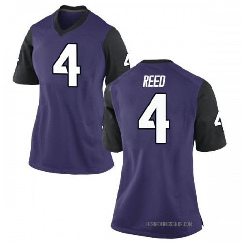 Women's Nike Keenan Reed TCU Horned Frogs Game Purple Football College Jersey