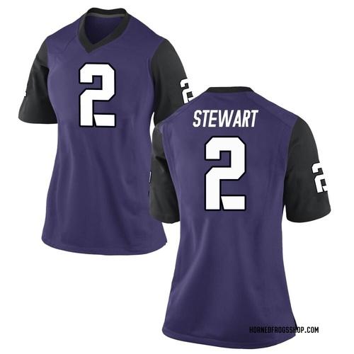 Women's Nike Kee'yon Stewart TCU Horned Frogs Game Purple Football College Jersey